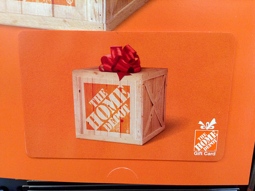 Enter the Home Depot Gift Card Giveaway. Ends 12/15.
