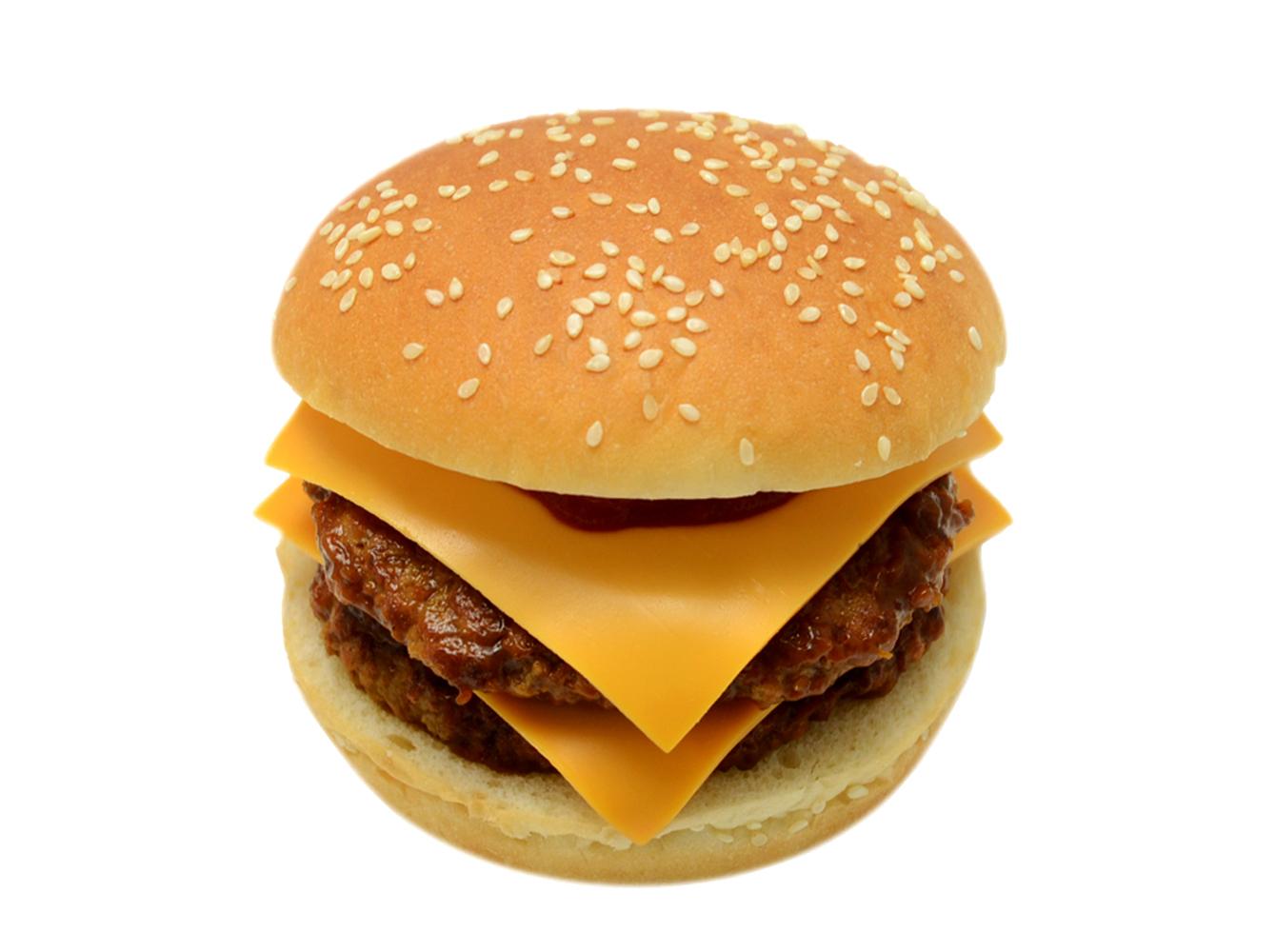 とろけるチーズのダブルバーガー