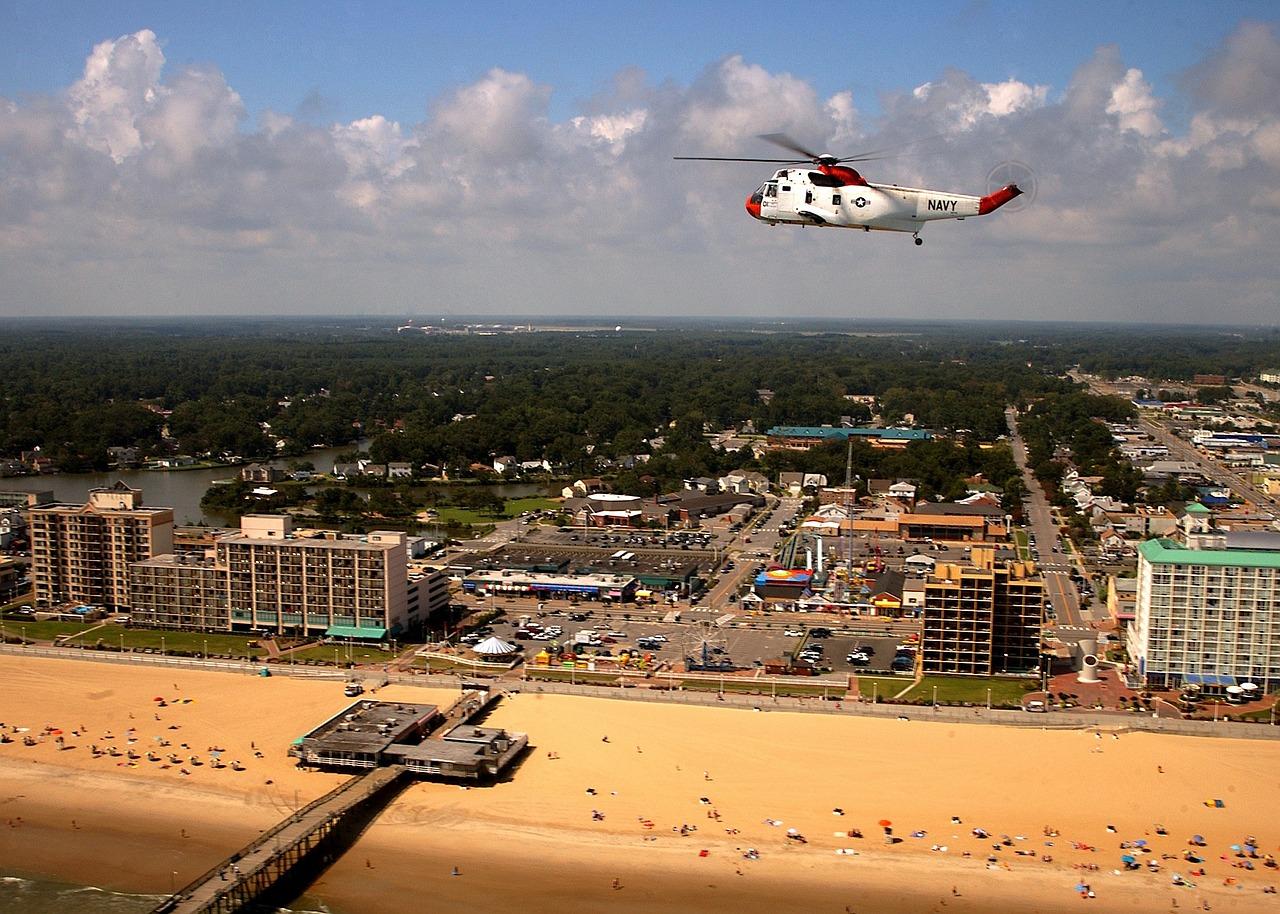 Aerial view of Virginia Beach