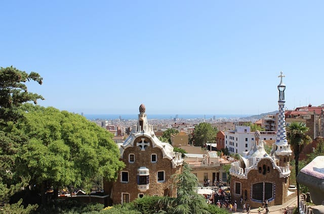 Gaudi Park, one of the Barcelona hop on hop off bus stops