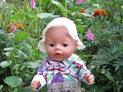 вязаная шляпка для куклы