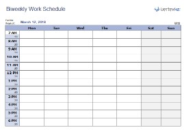 Bi Weekly Employee Work Schedule Template