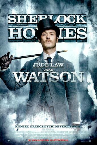 Przód ulotki filmu 'Sherlock Holmes'