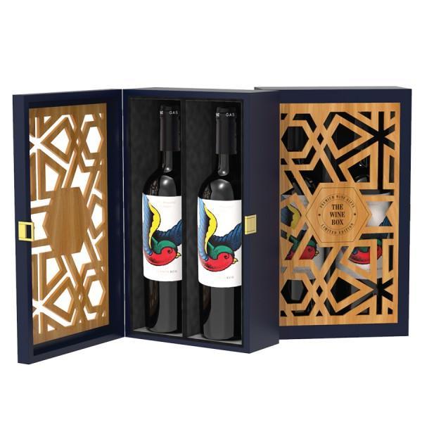 Hộp quà rượu vang tết