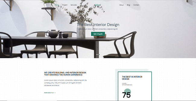 template web gratis ideal