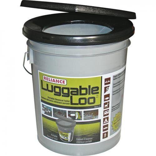 Reliance Luggable Loo Portable Snap On Toilet Seat Lid With Bucket ...