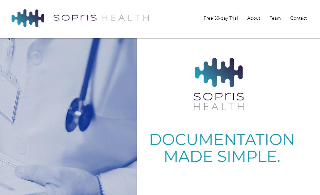 The Sopris Health website