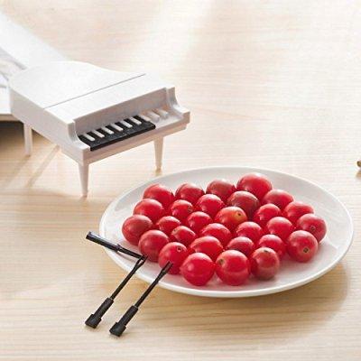 Creative Piano Shape Fruits Fork Set