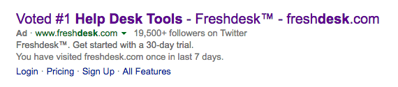 Freshdesk Bing as example