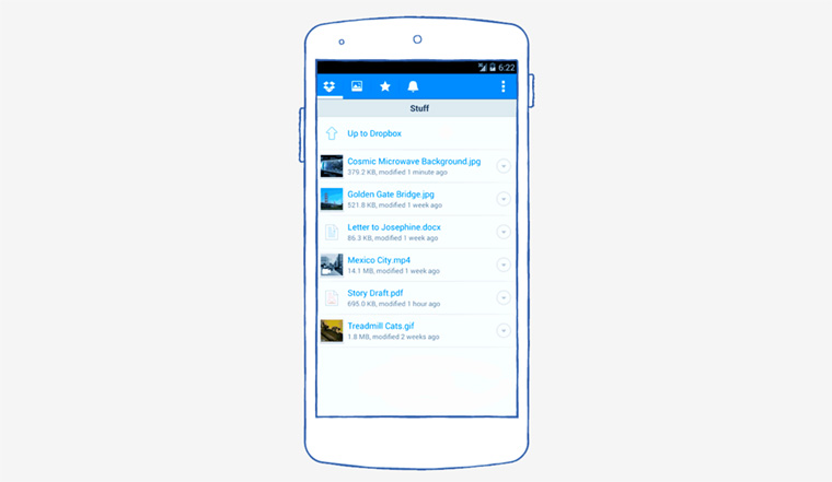 aplicativo do dropbox para android