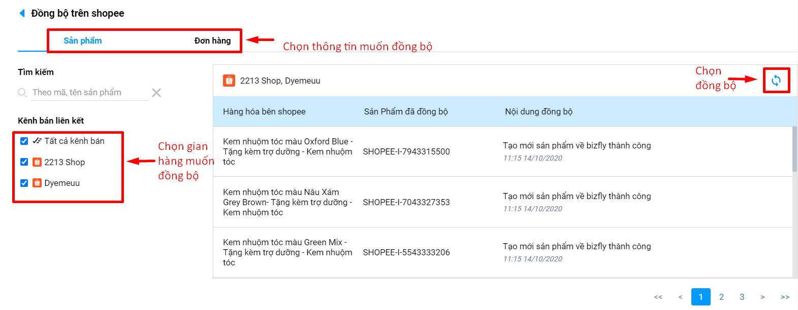 quản lý gian hàng bán lẻ trên nhiều trang TMĐT như Shopee, Lazada chỉ với Bizfly E-shop