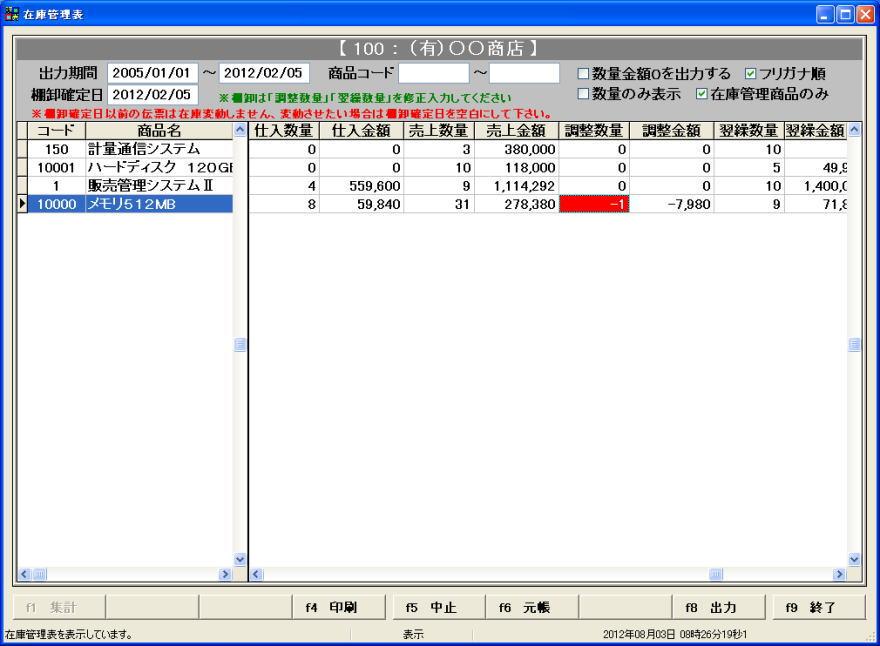 PCS 販売管理システム SZの画面