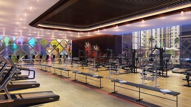 Dự án C River View Bình Dương có phòng tập gym sang trọng