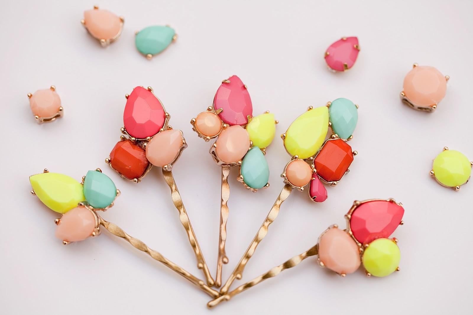 gemstone bobby pins, a craft that makes money