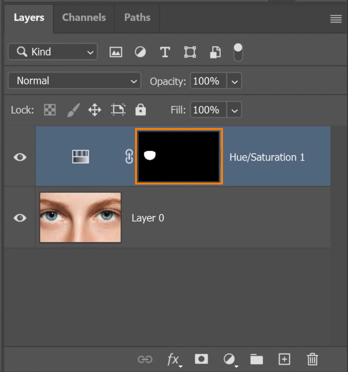 Select the Layer Mask thumbnail