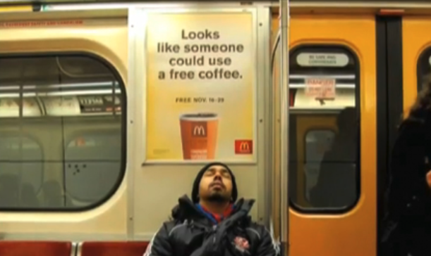 McDonalds Ad on subway