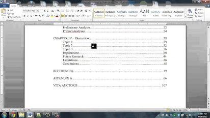 Apa Style Thesis Table Of Contents