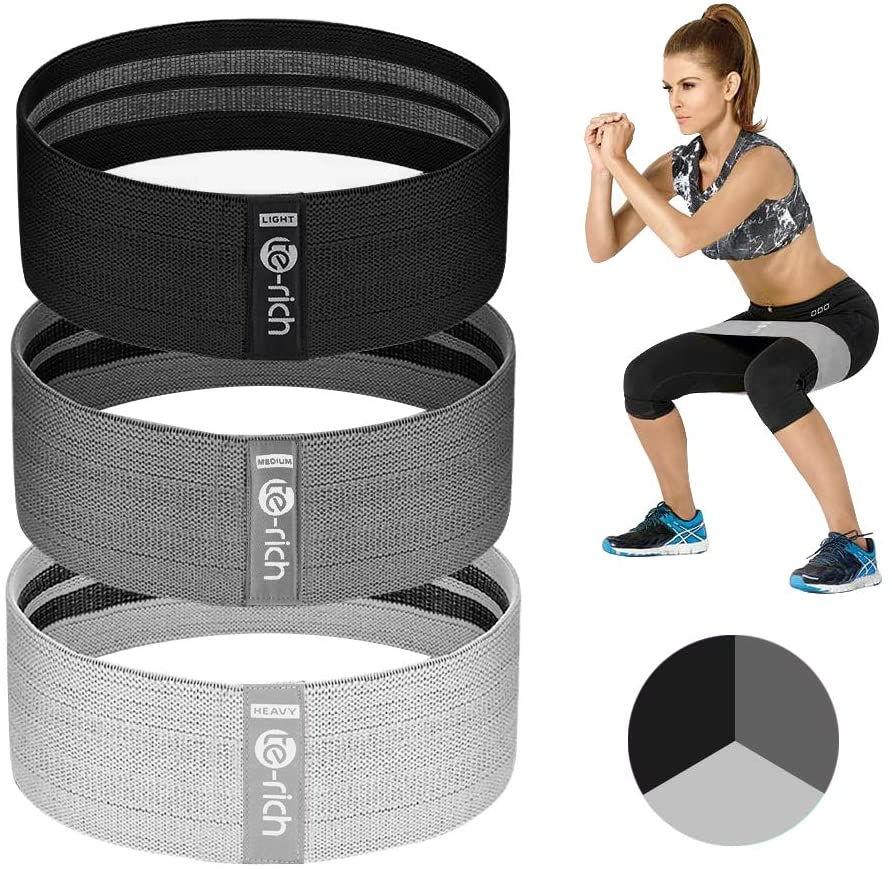 Te-Rich Resistance Bands are made of fabric, a high-quality elastic cotton so they are more comfortable on skin