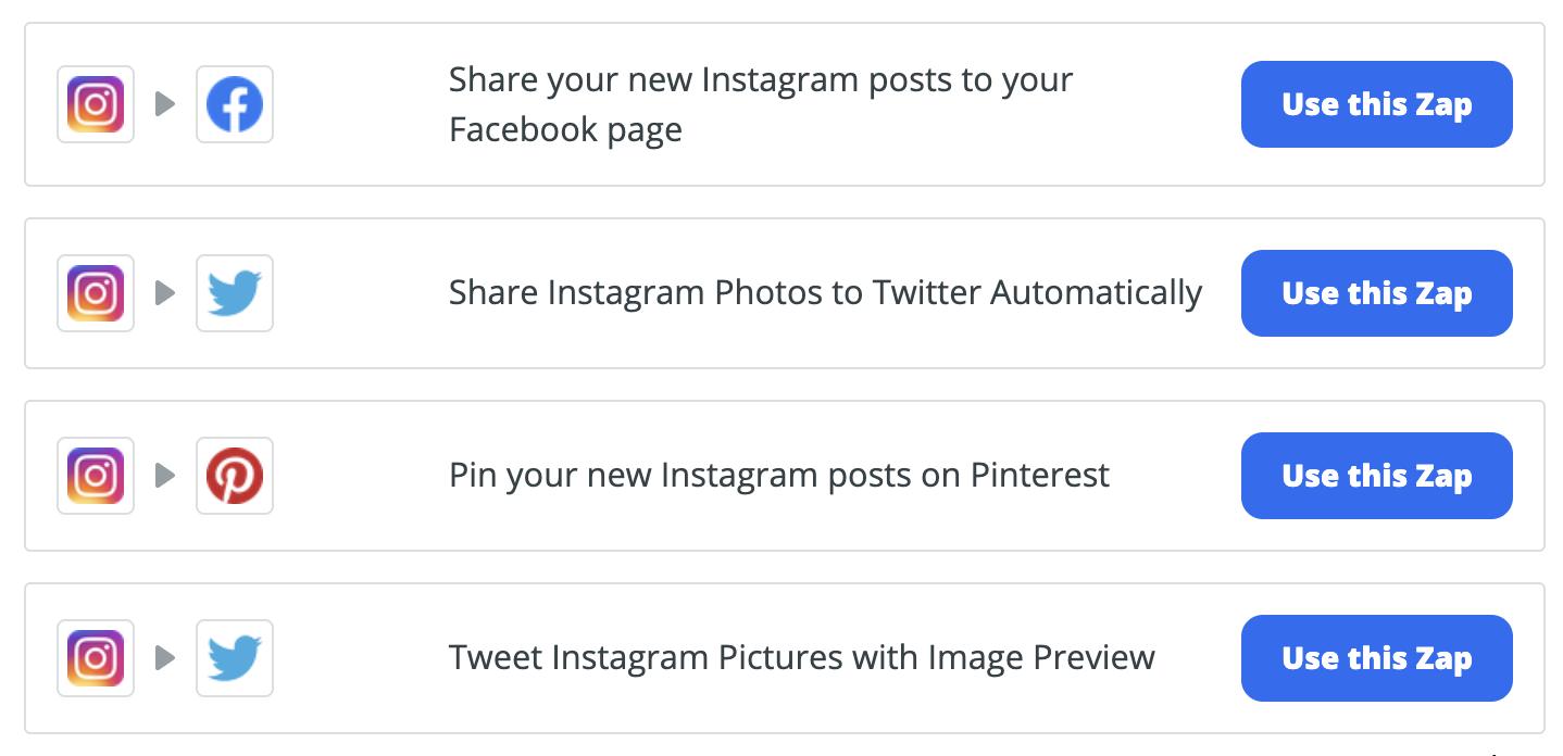 zapier social media automation