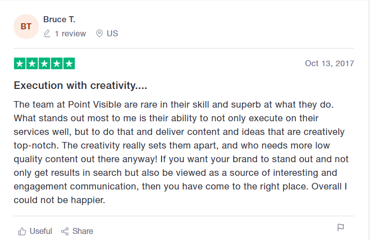 example of Trustpilot review
