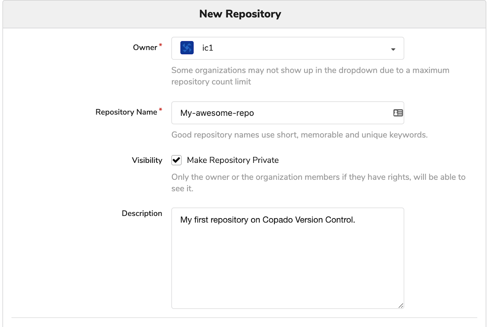 New Repository Information