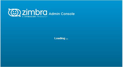 Zimbra Admin Console stuck