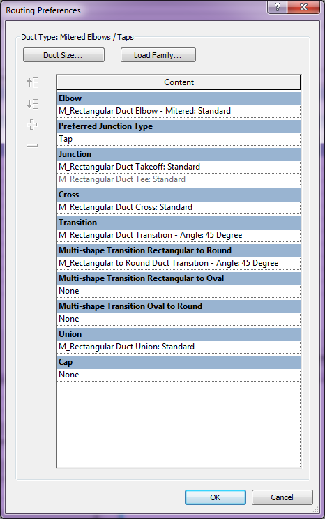 Mechanical Settings - Configuration in Revit - Modelical