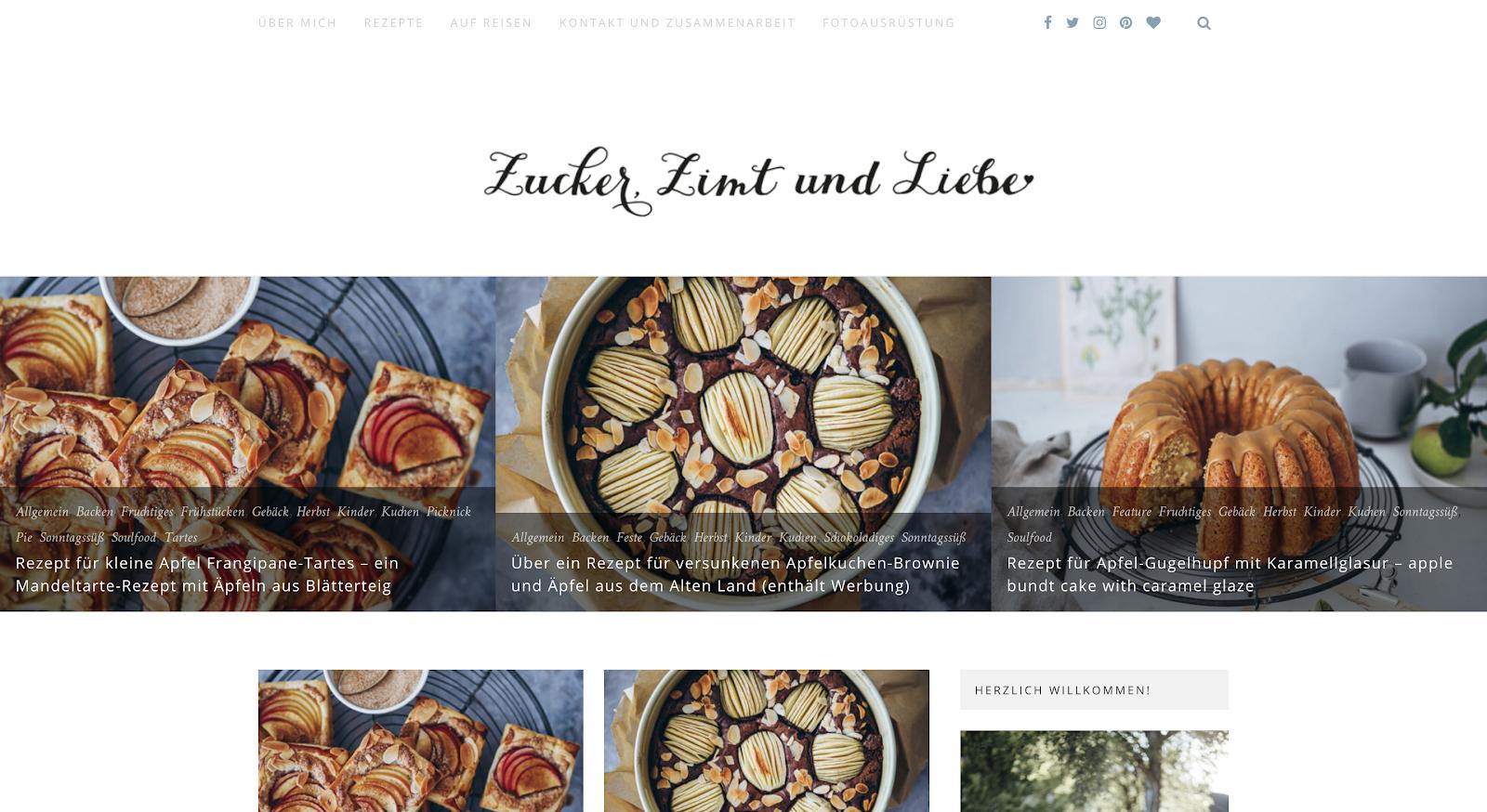 blog design zucker zimt und liebe
