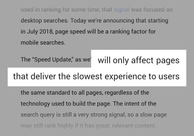 google как влияет скорость загрузки на ранжирование сайта