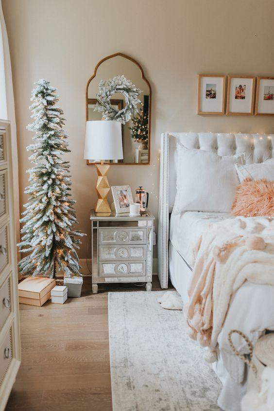 Hang A Wreath From Your Mirror