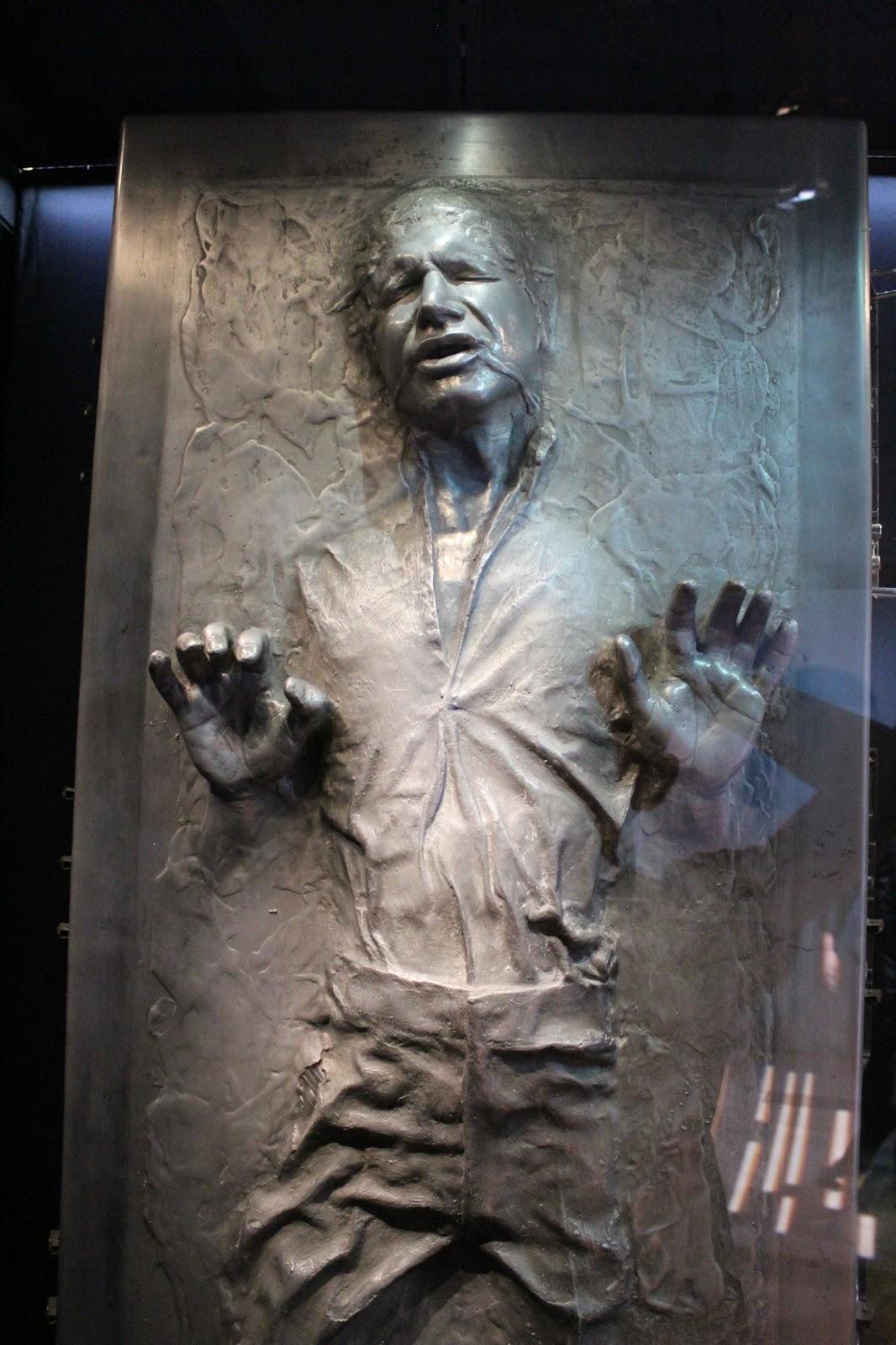 Model of Han Solo frozen in carbonite