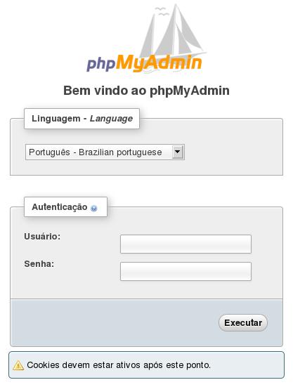 Debian 7 LAMP acesso phpmyadmin