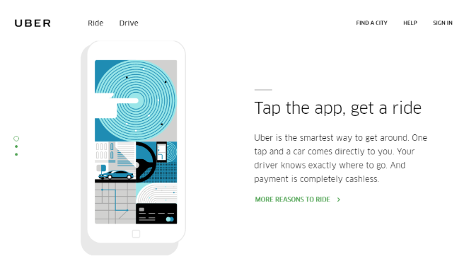 Uber ad - interest example