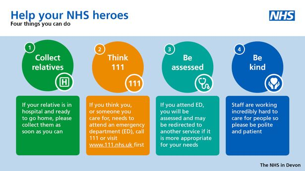 """NHS Devon issue advice to help them cope with """"extreme pressure"""""""