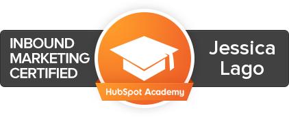 Inbound marketing badge from Hubspot