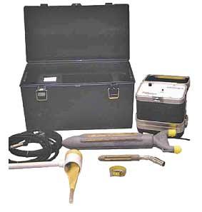 Complete electroejaculator set.