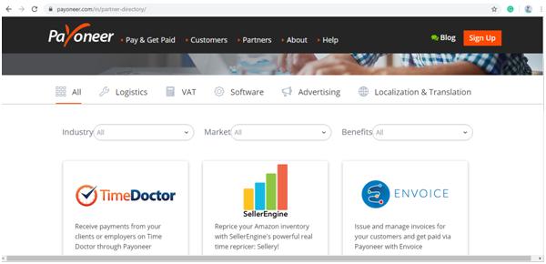 Payoneer partner Directory