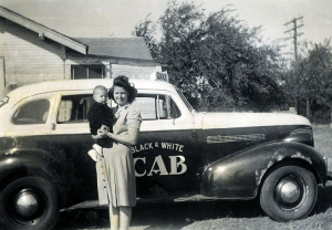 Genoma with young Jerry; Neal owned a cab company in Tecumseh, Oklahoma at the time