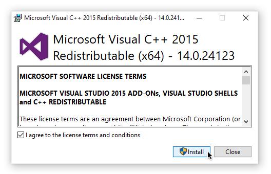 Visual C ++ Redistributable 2015