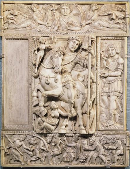 Resultado de imagem para escultura bizantina marfim