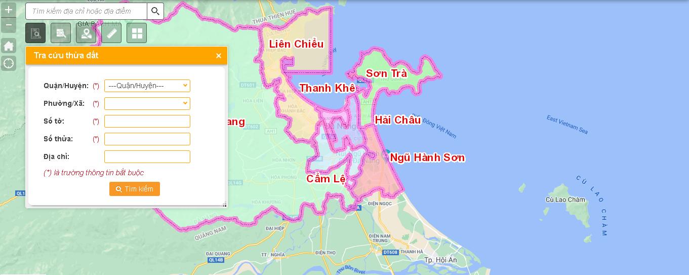 Tra cứu quy hoạch Đà Nẵng online