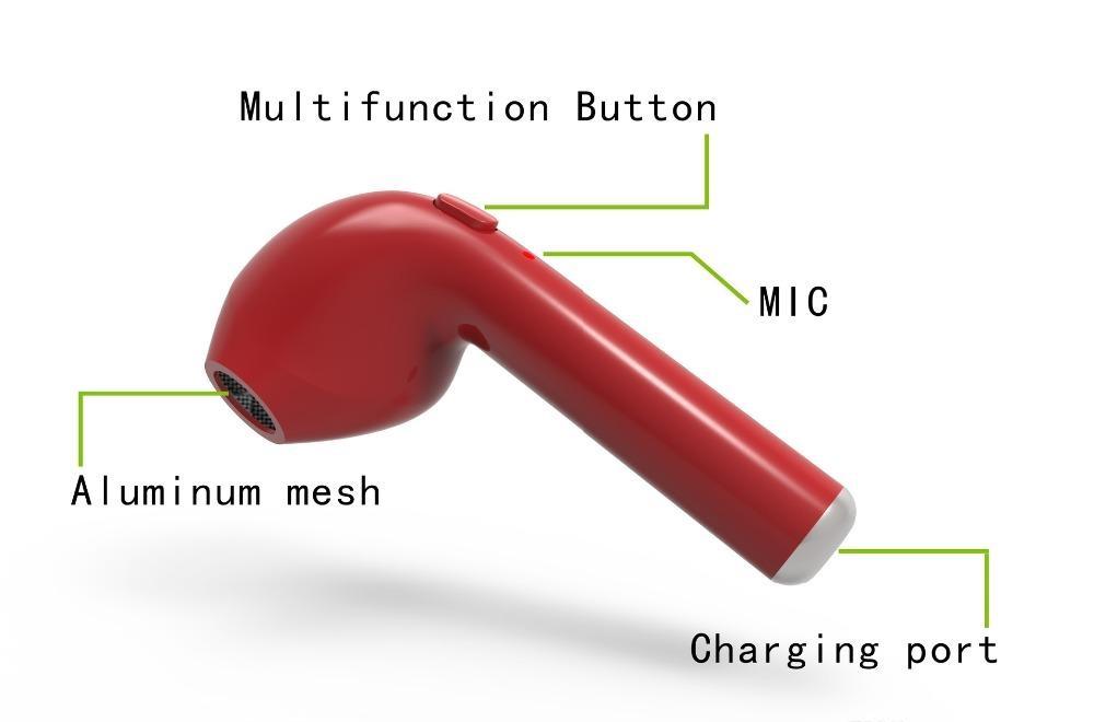 Mini écouteur Intra Auriculaire Invisible Bluetooth Hbqi7 Oreillette