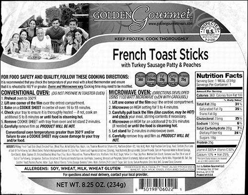 Label, Recalled Product