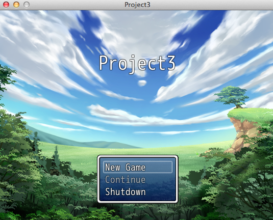 The game running on Mac OS X