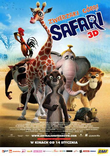 Przód ulotki filmu 'Safari'