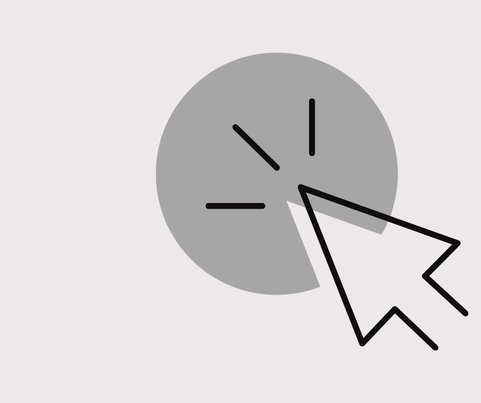 Cursor clicking on a dot.