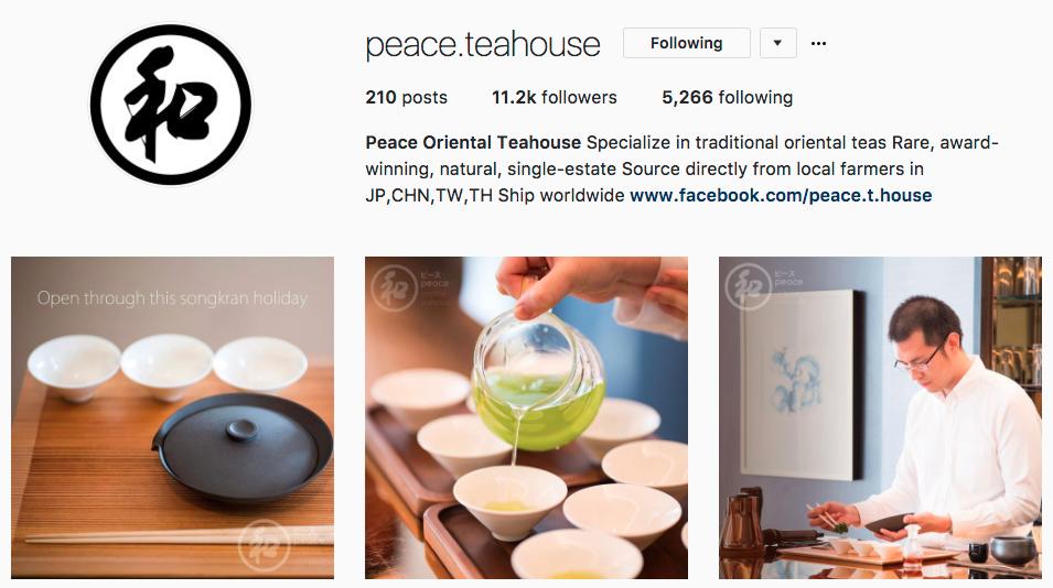 peace teahouse インスタグラム おしゃれ タイ