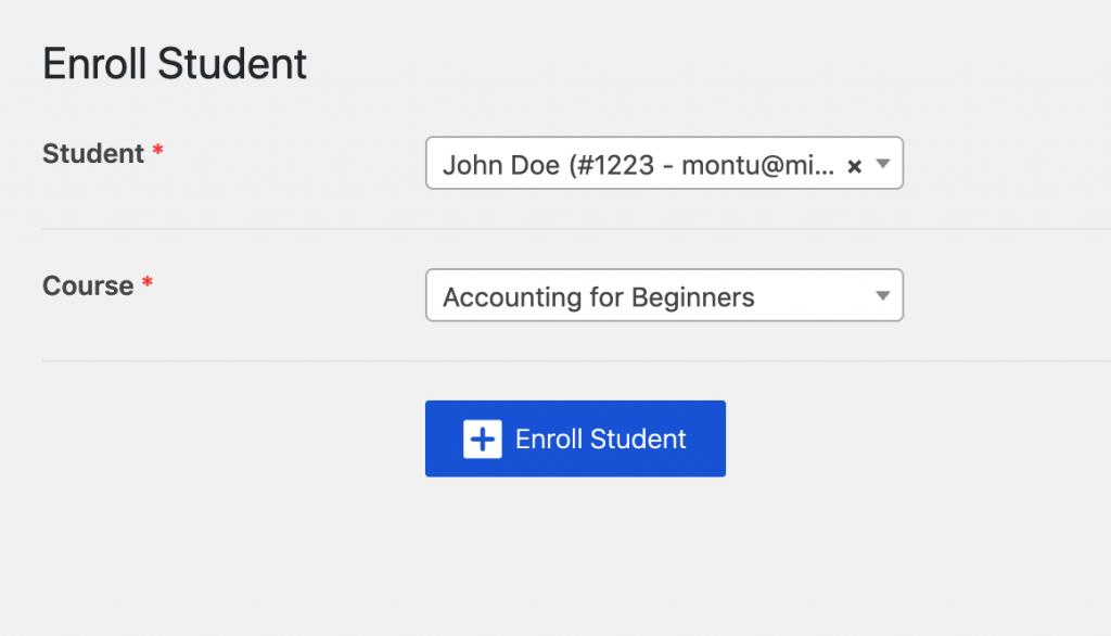 Tutor LMS - Monitor & Control Student Enrolments