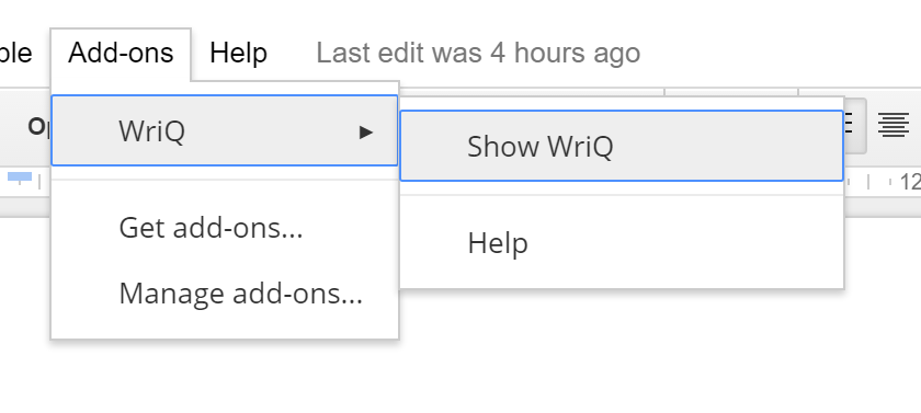 WriQ add-on