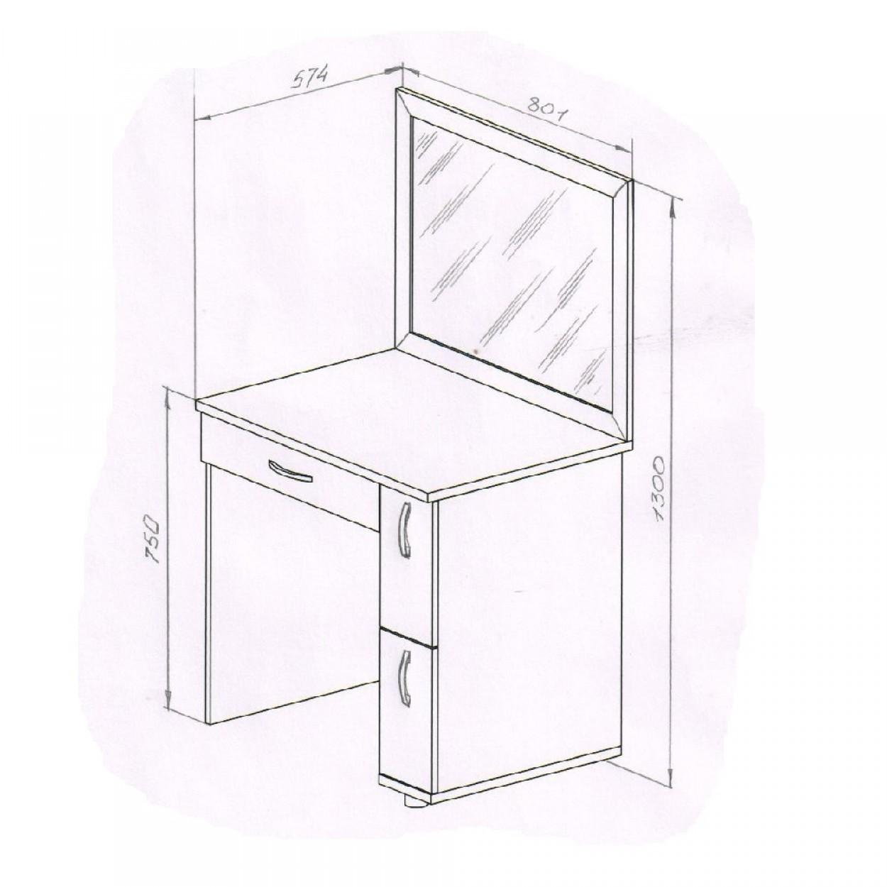 Чертеж простого столика, который можно сделать быстро и дешево